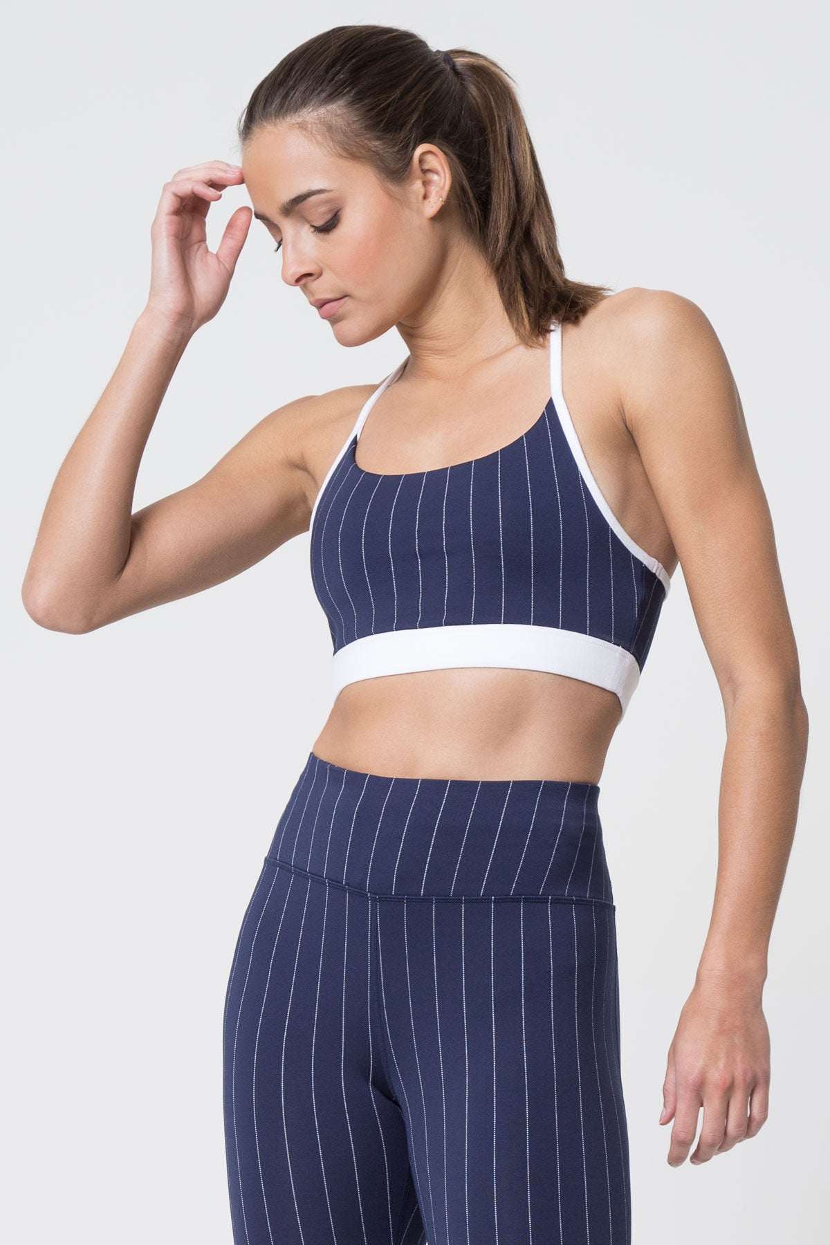 Scout Medium Support Striped Bra by MPG Sport