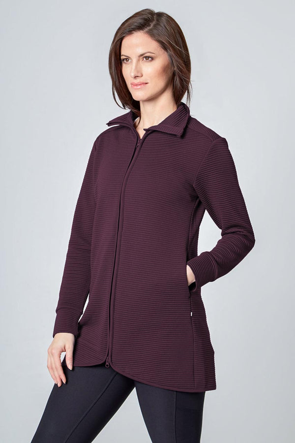 Mondetta women's Ladies Ottoman Jacket in Raisin