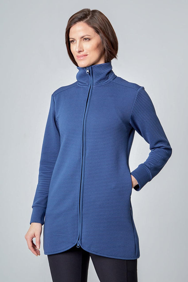 Mondetta women's Ladies Ottoman Jacket in Iron Blue
