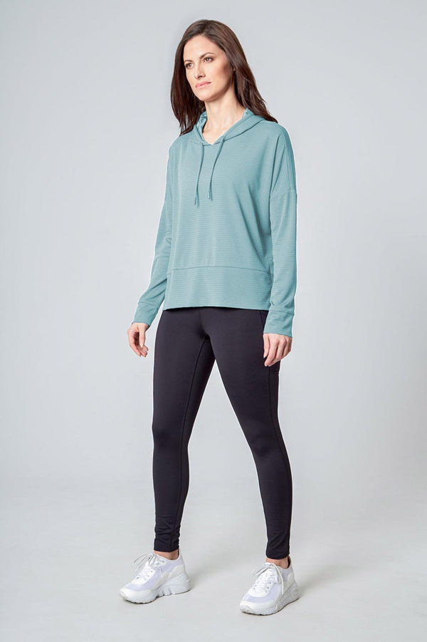 Women's Ottoman Pullover Hoodie - Abyss Green