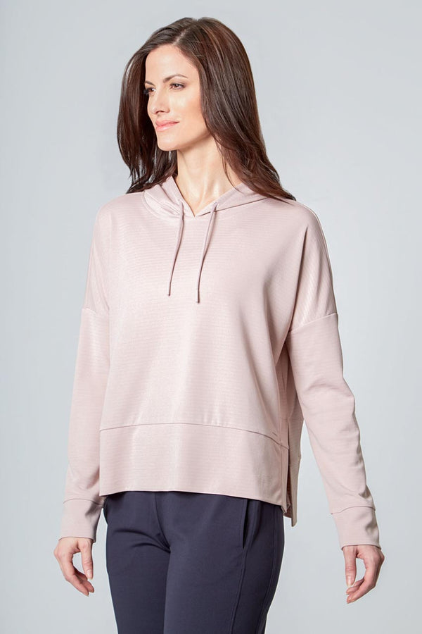Women's Ottoman Pullover Hoodie - Pink Cloud