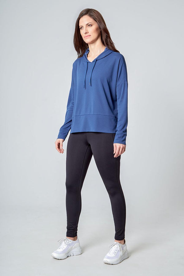 Women's Ottoman Pullover Hoodie - Iron Blue