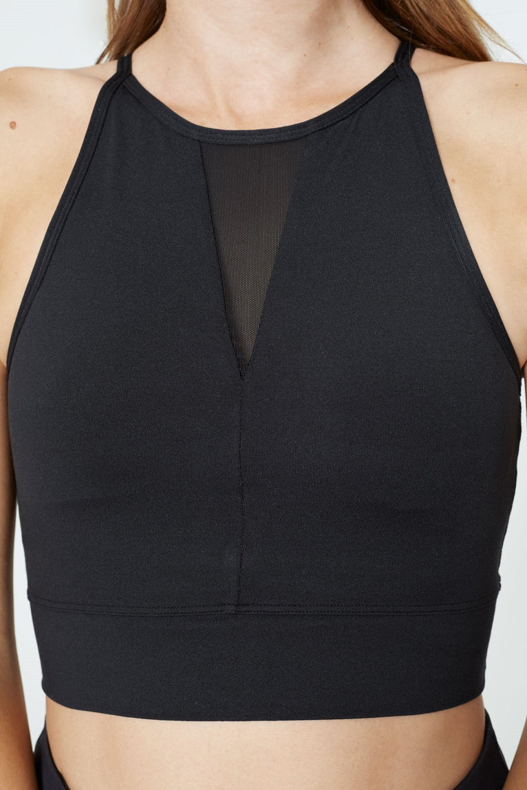 Ion Mesh V-neck Light Support Bra Top