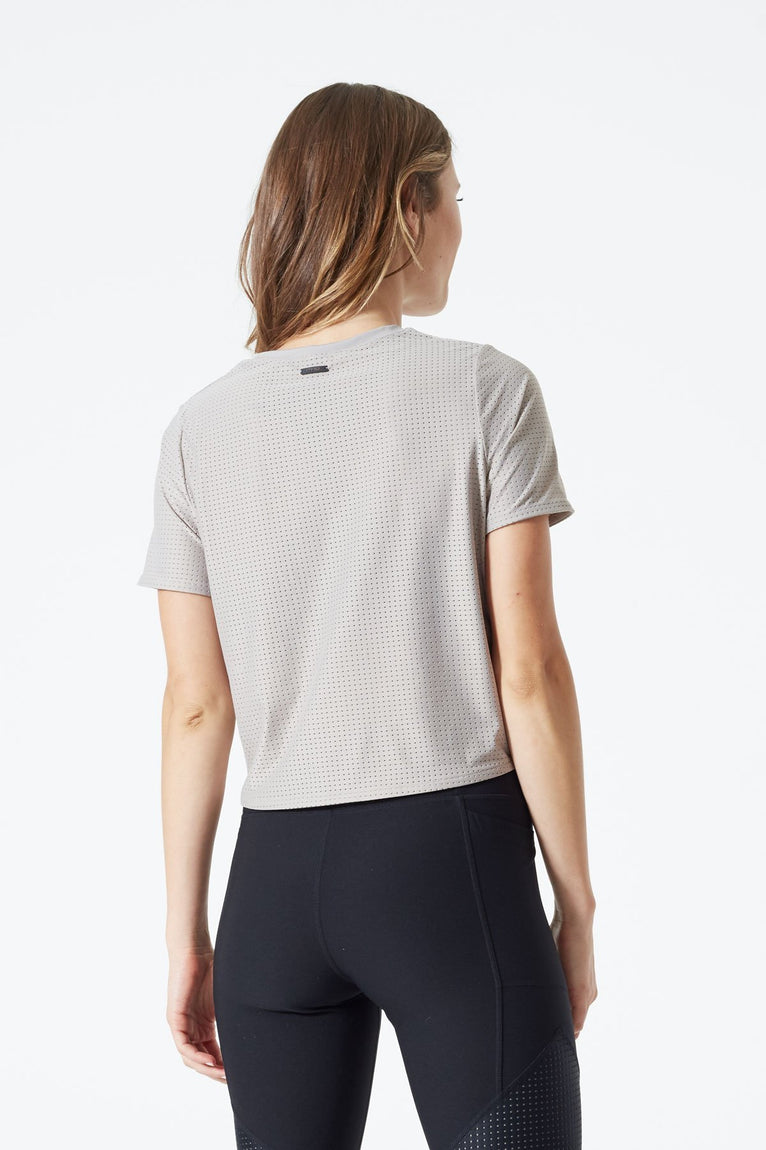 Affinity Perforated Crop Tee