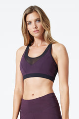 Carmin Mesh Panel Medium Support Bra
