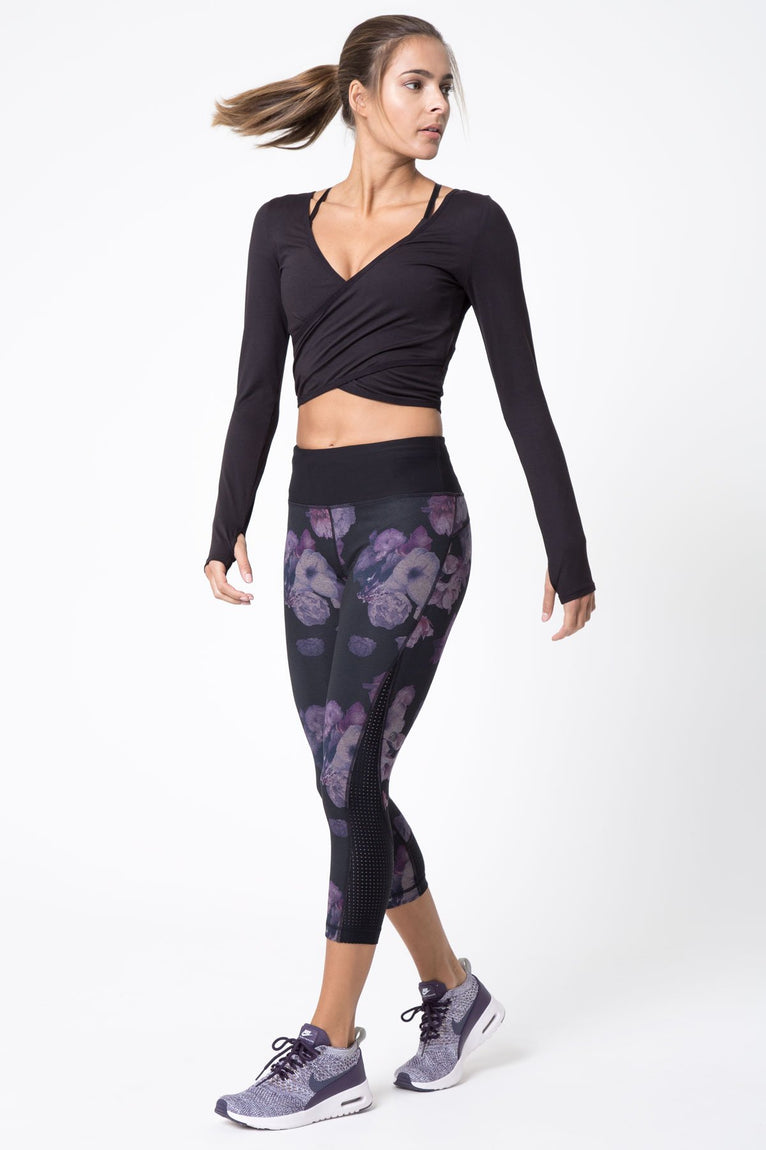 Halo Luxe Dancer-Inspired Long Sleeve Wrap