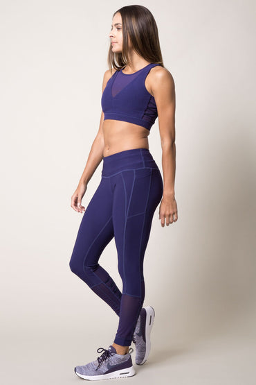 Pointe Lace-Up Mesh Medium Support Bra