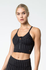 Amor 2.0 Bustier-Look Pinstripe Light Support Bra Top
