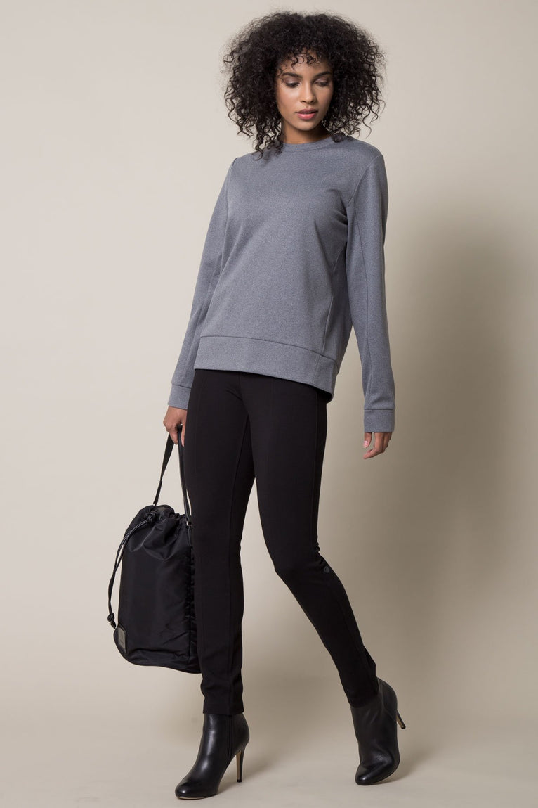 Bustle Pleated Back Sweatshirt
