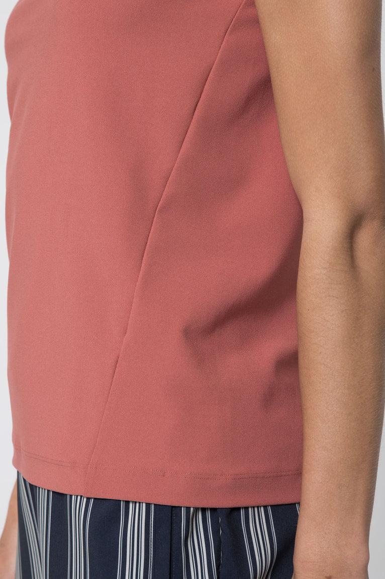 Savvy Stretch Mock Neck Top