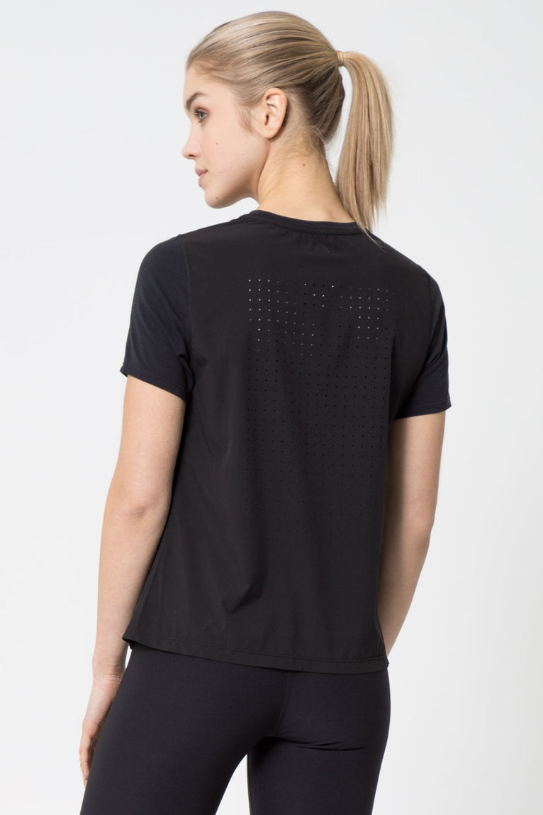 Romp Warrior Knit Perforated Tee