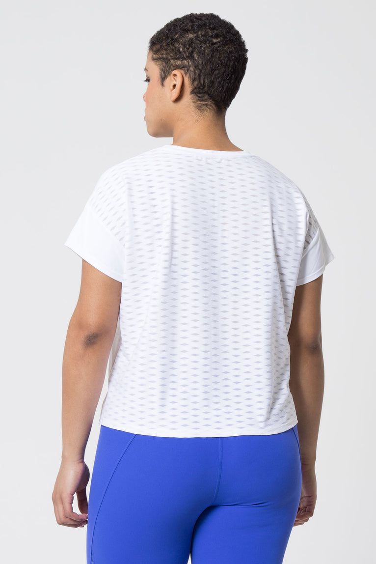 Breezy Diamond Mesh Tee