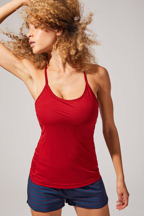 Keep Up Recycled Polyester Fitted Tank (Essential Tank)