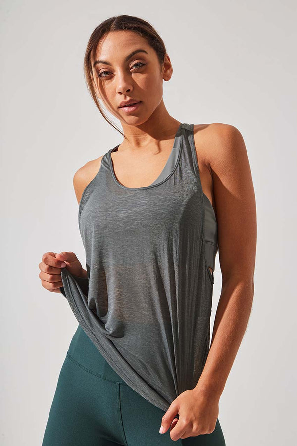 MPG Sport women's Leader Racerback Tank in Sage