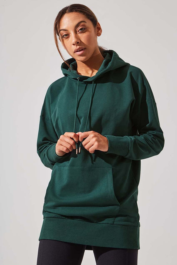 MPG Sport women's Journey French Terry Oversized Hoodie in Emerald
