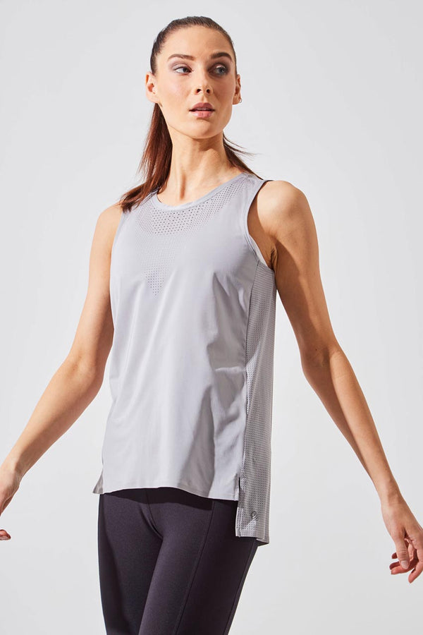 MPG Sport women's Hint Perforated Tank in Sleet