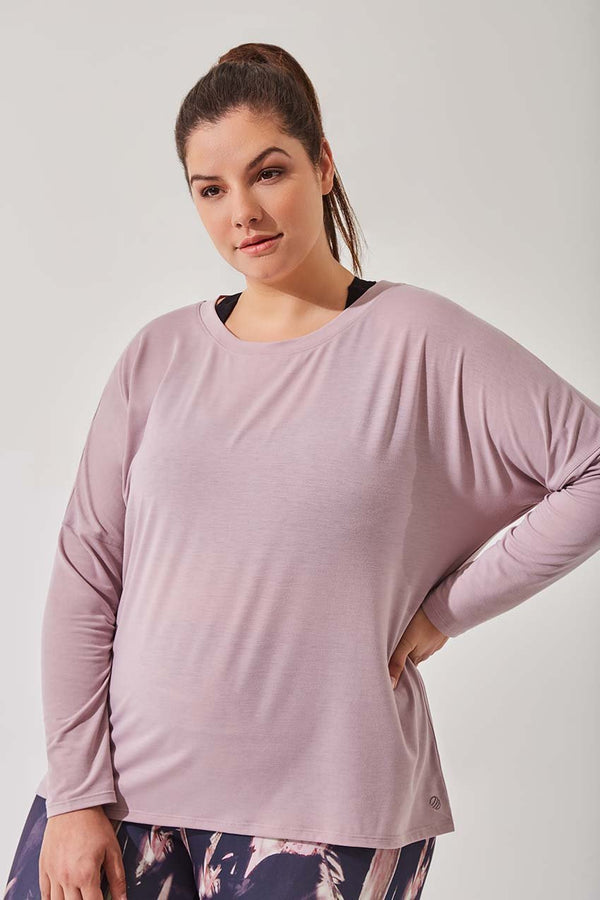 MPG Sport women's Liberate Recycled Polyester Top - Plus in Pink Cloud