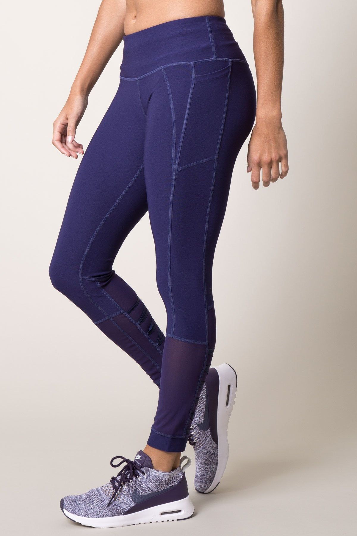 Emulate 7/8 Lace-Up Mesh leggings by MPG Sport