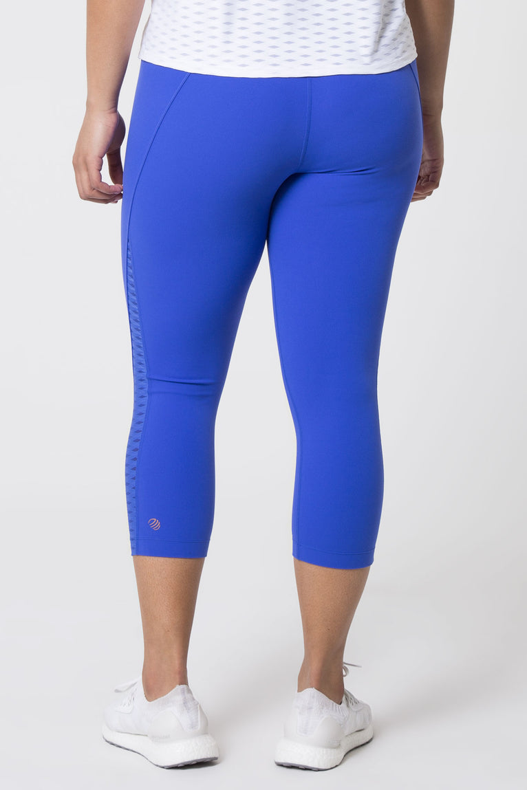 Dusk High Waisted Diamond Mesh Capri