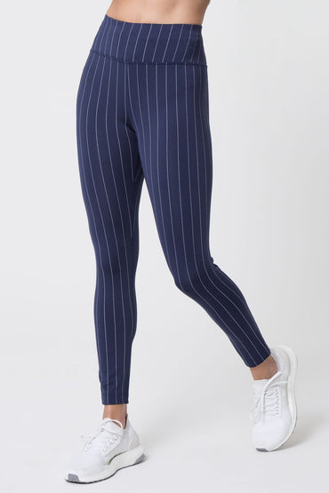 5bb74738ae1782 Spotlight 7/8 High Waisted Striped Leggings ...