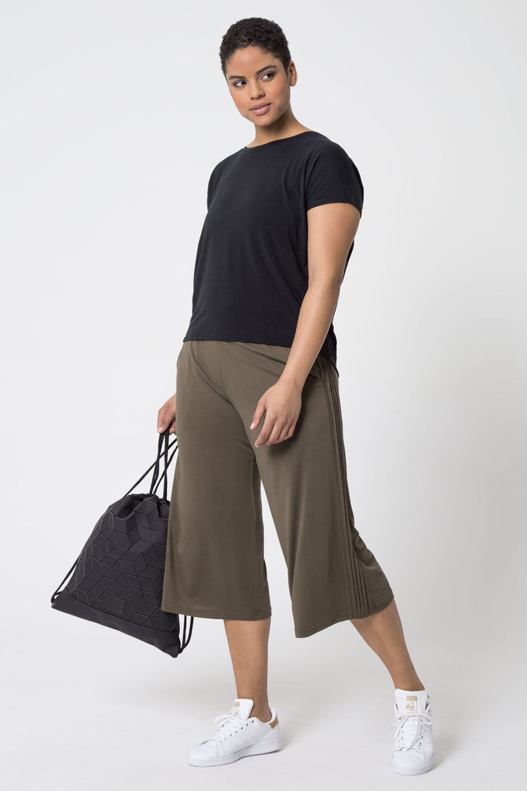 Tranquil Luxe Modal Side Pleat Culottes