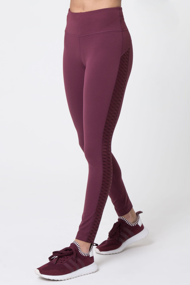 Sunset 7/8 High Waisted Diamond Mesh Legging