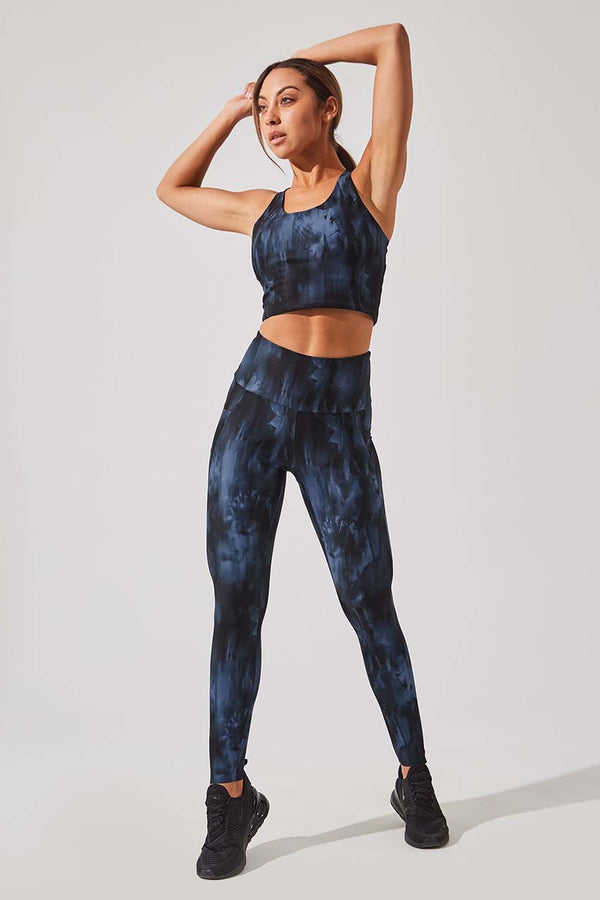 Score Recycled Polyester High Waisted 7/8-Length Legging