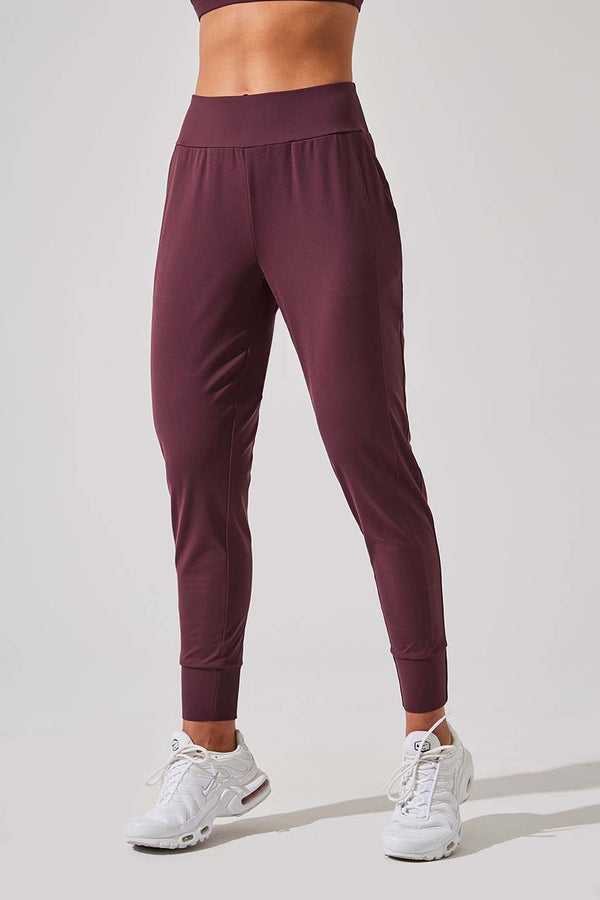 MPG Sport women's Blaze Recycled Polyester Active Jogger in Chocolate Berry