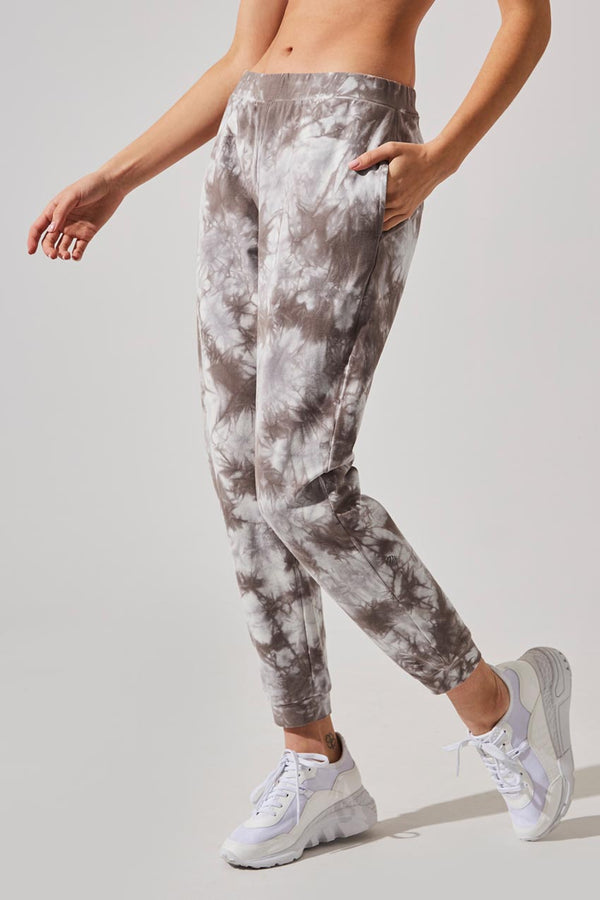 MPG Sport women's Synergy Relaxed Sweatpants in Taupe Tie Dye