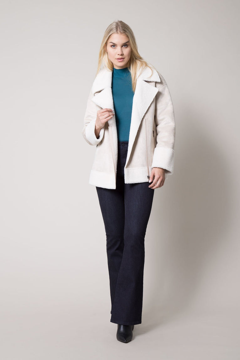 Ideal Suede-Look Sherpa Jacket