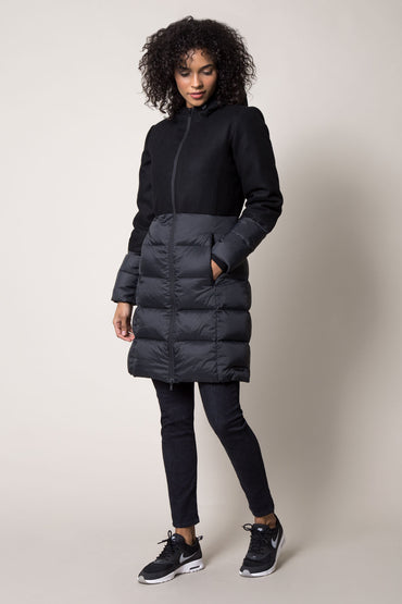 Classique Melton Wool Down Filled Jacket