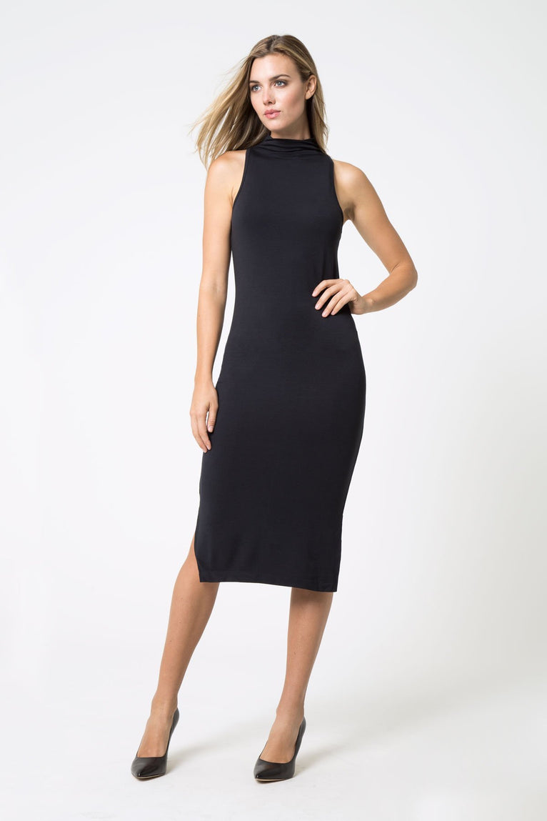 Runway Mock Neck Dress