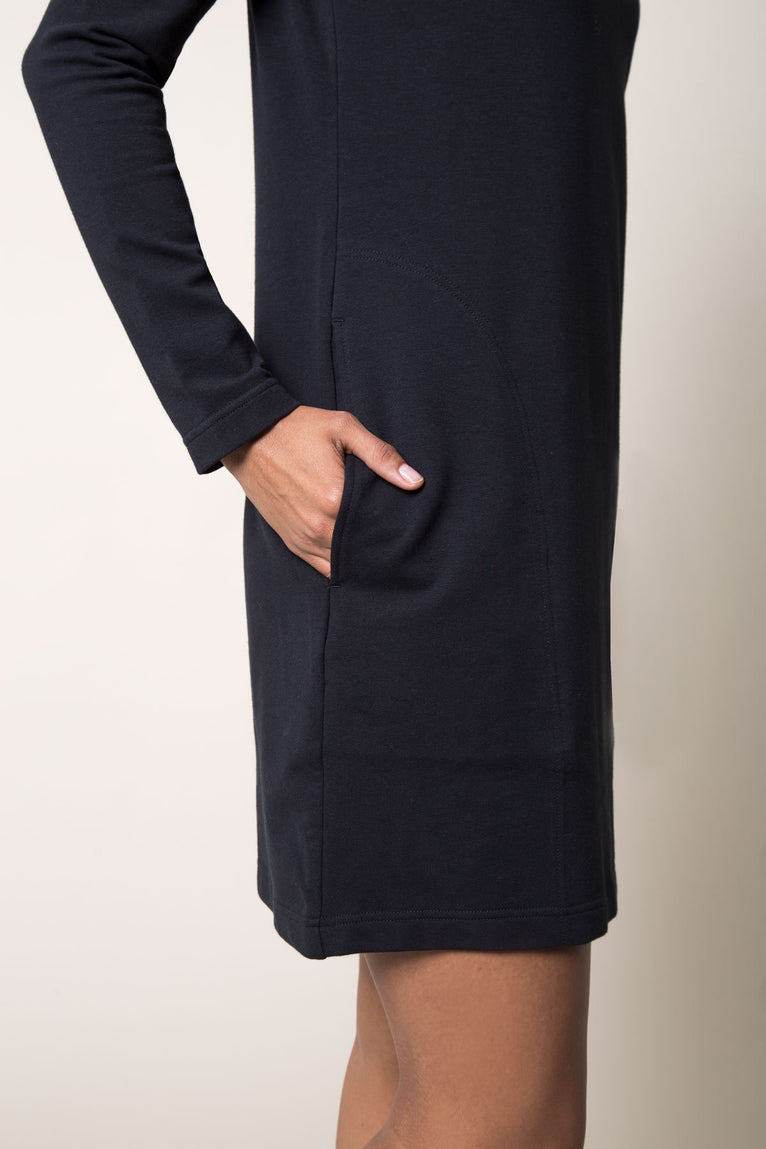 On The Go Stretch Turtleneck Dress