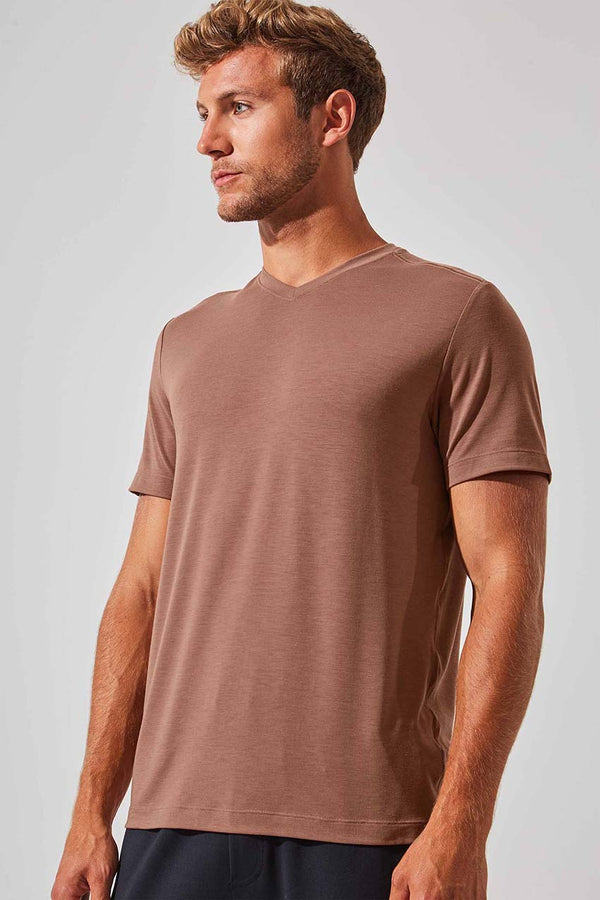 MPG Sport men's Condition Recycled Polyester Stink-Free Tee - Sale in Cognac