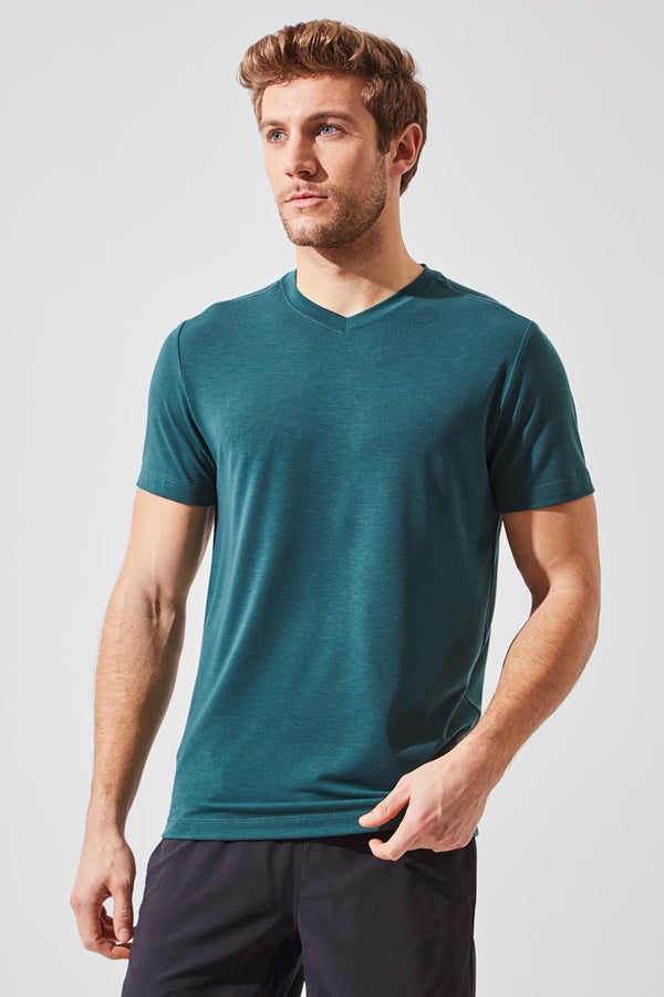 MPG Sport men's Condition Recycled Polyester Stink-Free Tee in Ultramarine Green