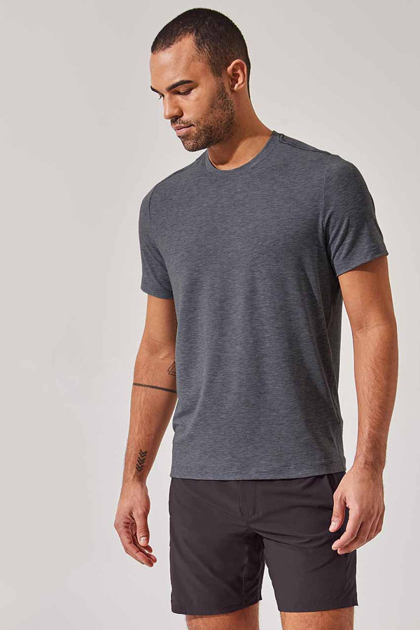 MPG Sport men's Rookie Recycled Polyester Stink-Free Tee - Sale in Htr Charcoal