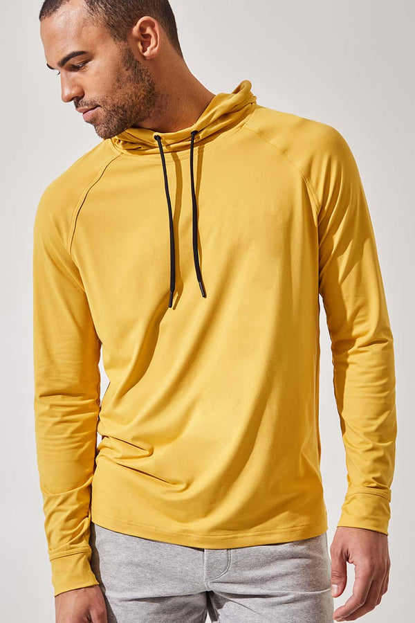 MPG Sport men's Caliber Recycled Polyester Hoodie - Sale in Mustard
