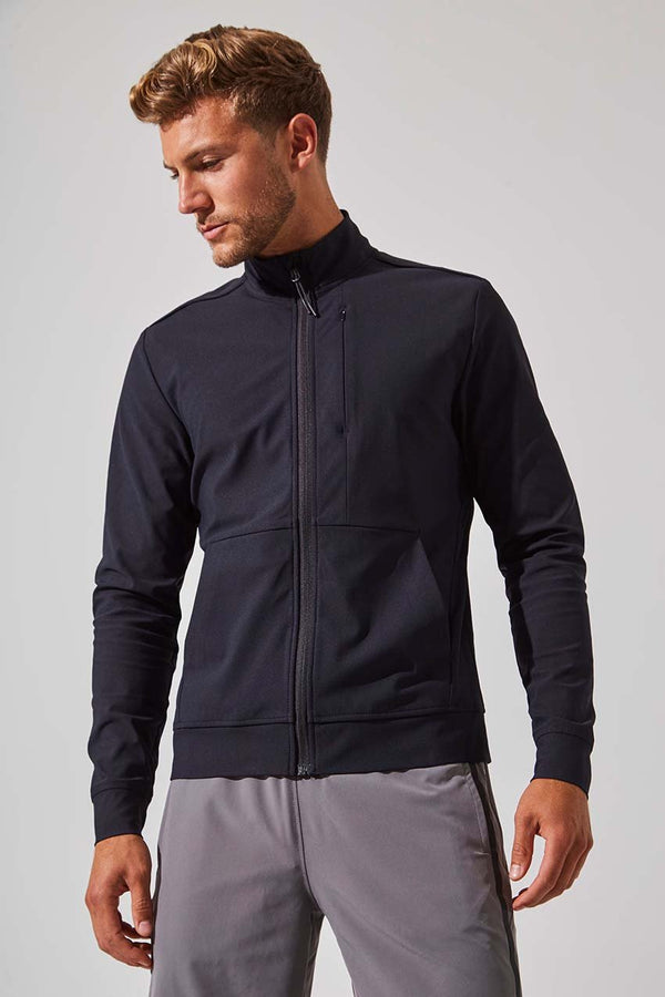 MPG Sport men's Approach Zip Up Jacket in Black