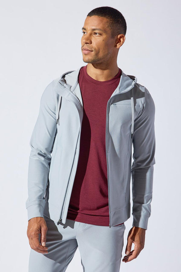 MPG Sport men's Resolve Recycled Polyester Front Zip Hoodie in Sleet
