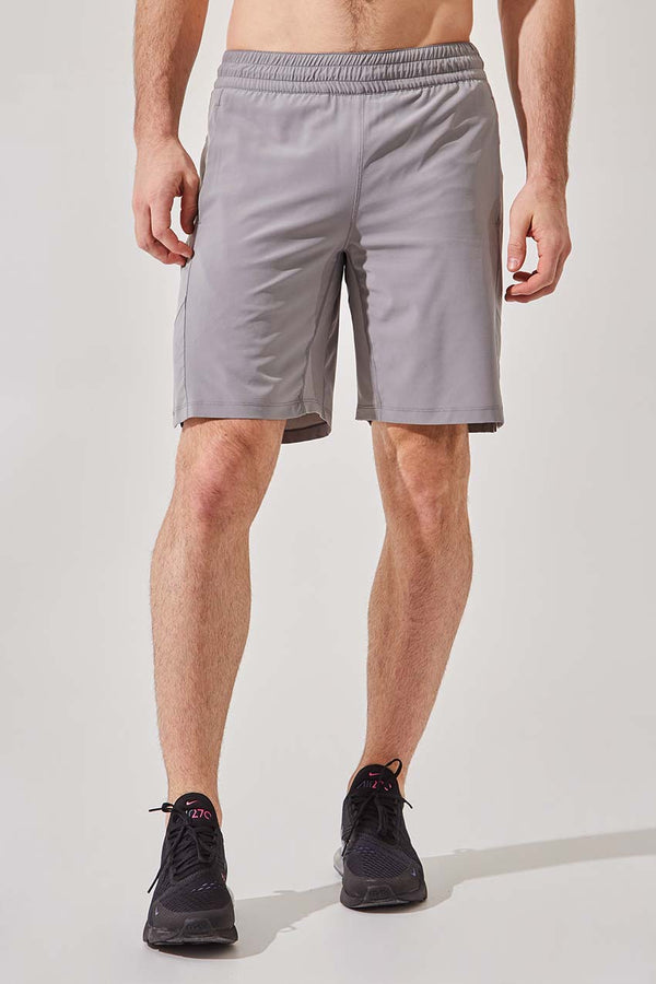 "MPG Sport men's Boundary 9"" Recycled Polyester Short with Liner in Stone"