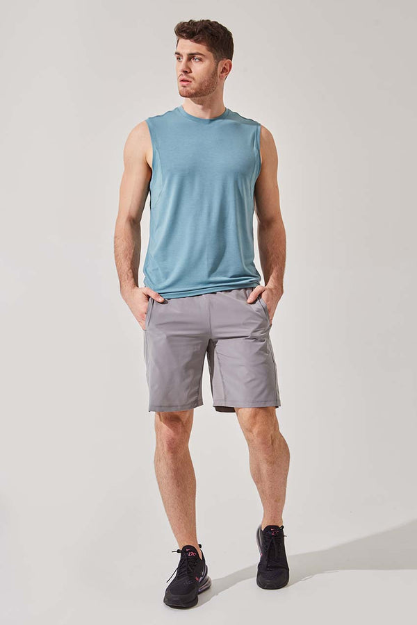 "Boundary 9"" Recycled Polyester Short with Liner"