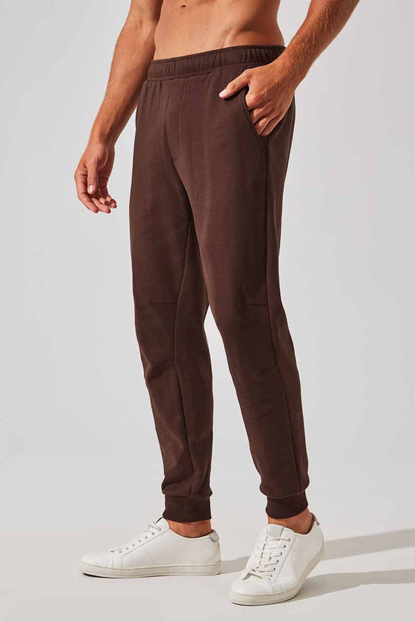 MPG Sport men's Prospect Elevated Lifestyle Jogger in Dark Mahogany