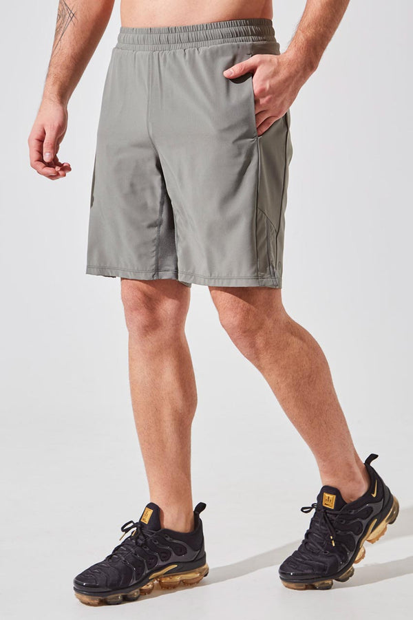 "MPG Sport men's Crux 9"" Recycled Polyester Short with Liner in Desert Sage"