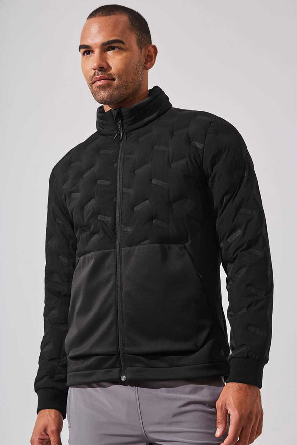 MPG Sport men's Capacity Insulated Mixed Media Jacket in Black