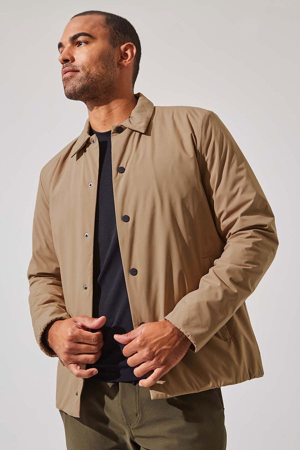 MPG Sport men's Strength Insulated Shirt Jacket in Camel