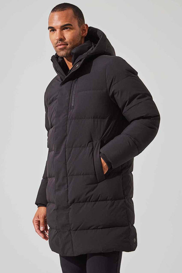 MPG Sport men's Latitude Down Filled Long Parka in Black