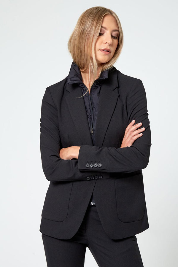 Modern Ambition work-ready women's Visionary Twill Blazer With Removable Fooler in Black