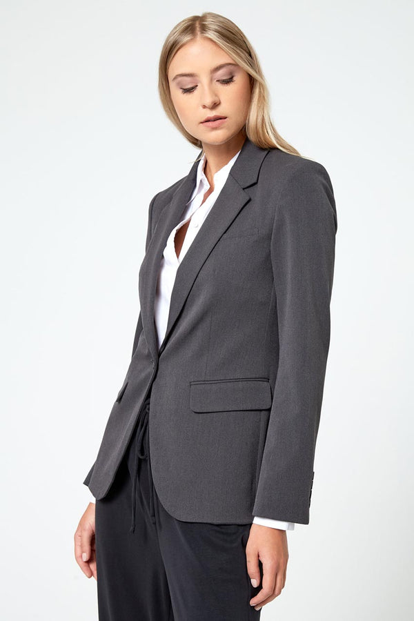 Modern Ambition work-ready women's Insight Twill Blazer in Wayward Grey