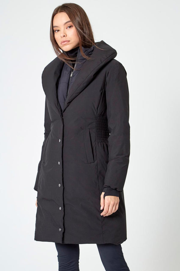 Modern Ambition work-ready women's Streetwise Puffer with Removable Fooler in Black