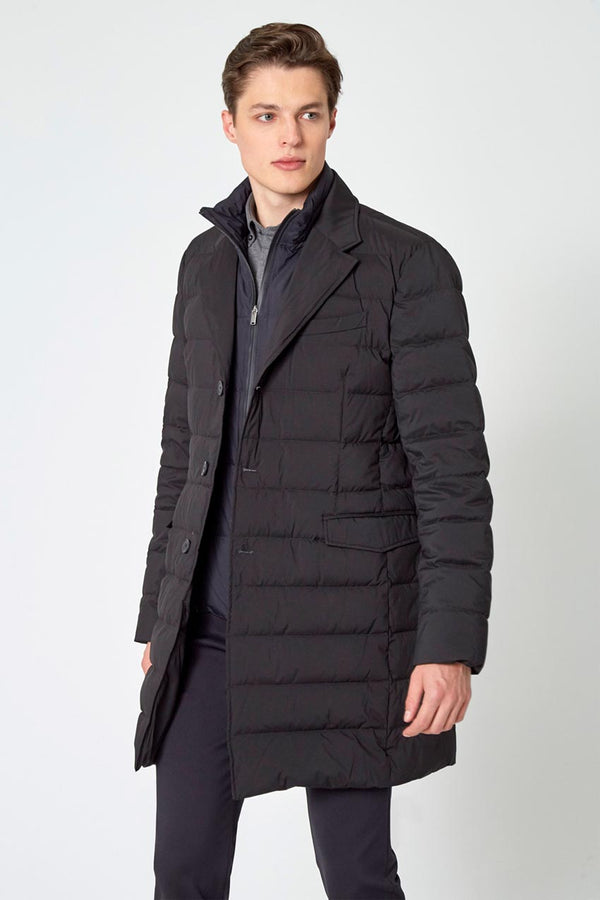 Modern Ambition work-ready men's Rapport Puffer Jacket with Removable Fooler in Black